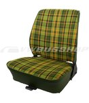 Seat cover T2, green-yellow, front passenger (fix seat)