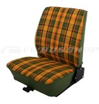 Seat cover T2, green-yellow-red, front passenger (fix seat)