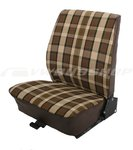 Seat cover T2, brown-beige, front passenger (fix seat)