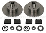 Brake disc, brake lining, wheel bearing kit, fixed caliper 9/83-6/86