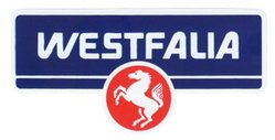 Westfalia sticker for luggage pan T2