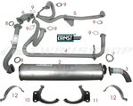 Complete set exhaust WBX 92-95HP MV 2.1L not Syncro