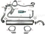 Complete set exhaust WBX 112HP DJ 2.1L Syncro