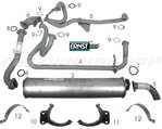 Complete set exhaust WBX 112HP DJ 2.1L not Syncro 86-